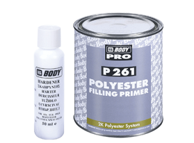 Two component polyester filling primer ideal for large uneven surfaces with excellent adhesion over all metals, wooden and fiberglass surfaces.