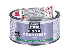 Fiberglass 2K polyester filler for bridging and filling of cavities.