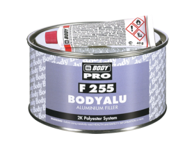 Two component polyester filler (putty) with aluminium added to provide increased thickness and resistance to vibration.
