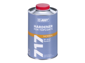 Normal hardener for topcoats