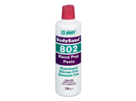 A waterborne paste used for lightly sanding old paintwork prior to painting, providing adhesion for the new coat of paint.