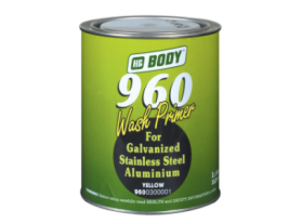 Excellent 2K yellow primer suitable primarily to be applied over aluminium, galvanised, stainless steel and zinc coated surfaces.