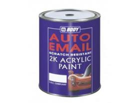 A two component quick drying acrylic resin based paint (in various shades).