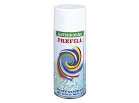 Prefill spray with Universal thinner and propellant gas for all waterborne paint system.