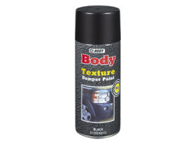 Quick drying acrylic texture, excellent coverage, primer/topcoat for plastic parts.