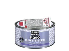 BODY F290 is a two component ultra light polyester filler product providing smooth surface after sanding.