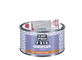 Universal two component polyester filler, suitable for application on all metals.