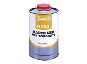 Normal isocyanate hardeners for 2K acrylic paints and 2K clear coats.