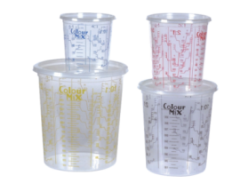 High resistant mixing cups for mixing and storage of all coatings