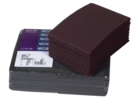 Excellent non-woven pads for scuffing metal or old paint surfaces before applying paint and primer
