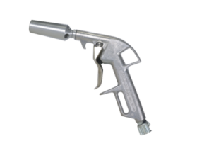Entirely aluminium blow gun with flow delivery valve to increase the volume of air