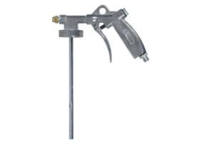 Special gun with adjustable nozzle (for fine or rough texture) for stone chip coatings